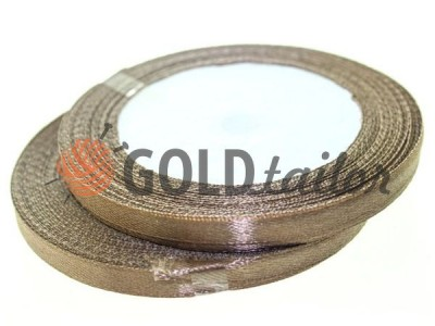 Action - Satin ribbon 7mm, dark brown, length 25 m, purchase 1 Babin without registration