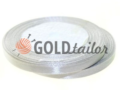 Action - Satin ribbon 7mm, lightgrey, length 25 m, purchase 1 Babin without registration