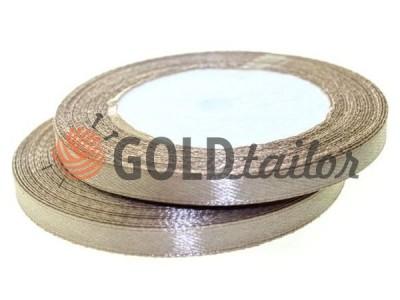 Акция - Лента атласная 7 мм, цвет коричневый, длина 25 м, купить от 1 бабины без регистрации
