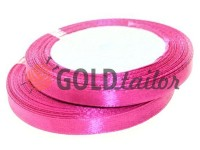 Satin Tape 7mm, color crimson, length 25 m