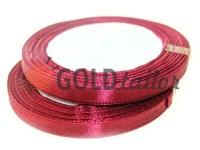 Satin Tape 7mm, color bordo, length 25 m