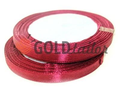 Акция - Лента атласная 7 мм, цвет бордовый, длина 25 м, купить от 1 бабины без регистрации