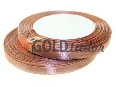 Акция - Лента атласная 7 мм, цвет кожаного седла, длина 25 м, купить от 1 бабины без регистрации