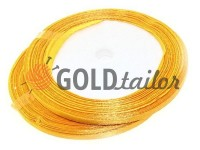 Satin Tape 7mm, color gold, length 25 m