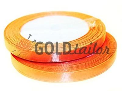 Акция - Лента атласная 7 мм, цвет томатный, длина 25 м, купить от 1 бабины без регистрации