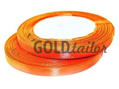 Акция - Лента атласная 7 мм, цвет оранжево-красный, длина 25 м, купить от 1 бабины без регистрации