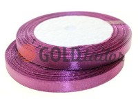 Satin Tape 7mm, color dark magenta, length 25 m