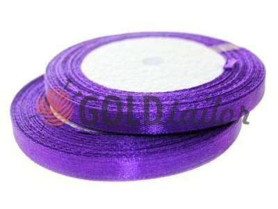 Акция - Лента атласная 7 мм, цвет темно-фиолетовый, длина 25 м, купить от 1 бабины без регистрации
