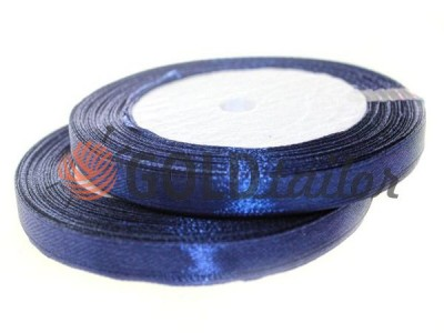 Action - Satin ribbon 7mm, navy, length 25 m, purchase 1 Babin without registration