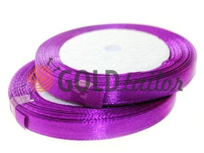 Action - Satin ribbon 7mm, mediumorchid, length 25 m, purchase 1 Babin without registration