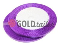 Satin Tape 7mm, color darkorchid, length 25 m