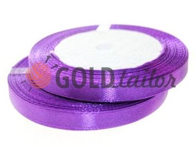 Акция - Лента атласная 7 мм, цвет темно-лиловый, длина 25 м, купить от 1 бабины без регистрации