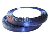 Стрічка атласна 7 мм, колір темно-синій, довжина 25 м