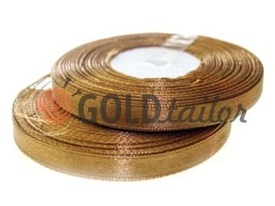 Акция - Лента атласная 7 мм, цвет кожаного седла, длина 33 м, купить от 1 бабины без регистрации