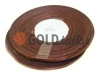 Satin Tape 7mm, color brown, length 33 m