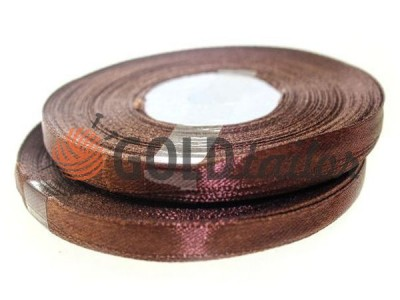 Action - Satin ribbon 7mm, brown, length 33 m, purchase 1 Babin without registration