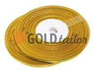 Satin Tape 7mm, color goldenrod, length 33 m
