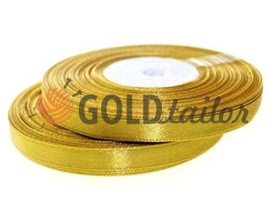 Акция - Лента атласная 7 мм, цвет золотисто-красный, длина 33 м, купить от 1 бабины без регистрации