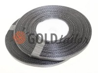 Satin Tape 7mm, color dimgray, length 33 m