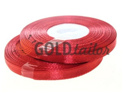 Action - Satin ribbon 7mm, darkred, length 33 m, purchase 1 Babin without registration