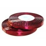Стрічка атласна 7 мм, колір бордовий, довжина 33 м