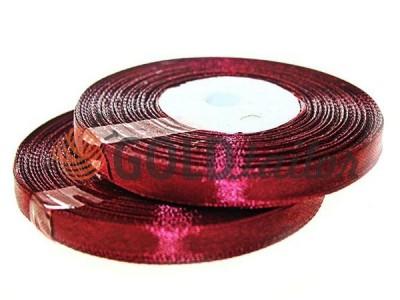 Акція - Стрічка атласна 7мм, колір бордовий, довжина 33 м, купити від 1 бабині без реєстрації
