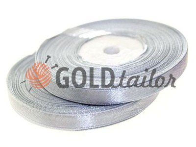 Action - Satin ribbon 7mm, lightgrey, length 33 m, purchase 1 Babin without registration
