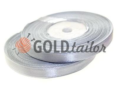 Акция - Лента атласная 7 мм, цвет светло-серый, длина 33 м, купить от 1 бабины без регистрации