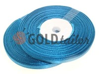 Satin Tape 7mm, color darkcyan, length 33 m