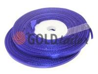 Стрічка атласна 7 мм, колір електрік, довжина 33 м