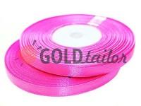Стрічка атласна 7 мм, колір яскраво-рожевий, довжина 33 м