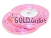 Стрічка атласна 7 мм, колір рожевий, довжина 33 м