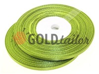 Satin Tape 7mm, color dark khaki, length 33 m