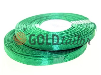 Action - Satin ribbon 7mm, dark green, length 33 m, purchase 1 Babin without registration