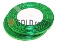 Satin Tape 7mm, color green, length 33 m