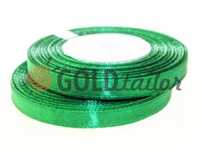 Action - Satin ribbon 7mm, green, length 33 m, purchase 1 Babin without registration