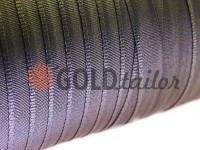 Тасьма брючна безусадкова 15 мм, колір сірий 0415