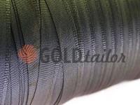 Тасьма брючна безусадкова 15 мм, колір сірий 1238