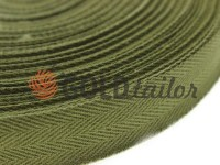 Braid rep cotton 20 mm, 23 mm, 25 mm, khaki