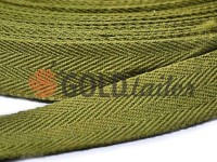 Braid rep cotton 20 mm, 23 mm, 25 mm, olive