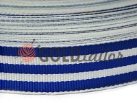 Braid rep 30 mm, white-blue
