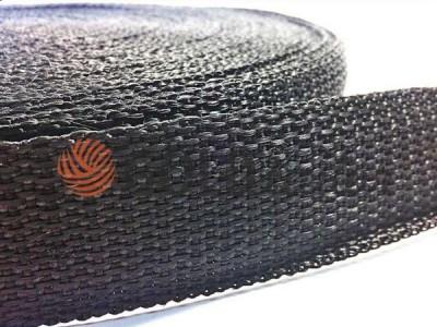 Тасьма для сумок 25 мм - 40 мм, колір чорний купити оптом і вроздріб