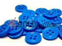 Гудзик пластиковий чотирьох-ударний, колір блакитний, упаковка 25 шт