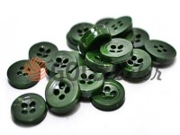 Button plastic four-shock, color green, packing 25 pcs