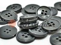 Button plastic four-shock, color dark-gray, packing 25 pcs