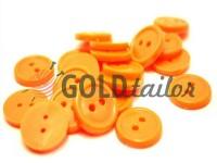 Гудзик пластиковий двох-ударний, колір помаранчевий, упаковка 25 шт