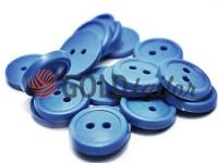 Гудзик пластиковий двох-ударний, колір блакитний, упаковка 25 шт