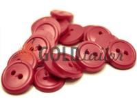 Пуговица пластиковая двух-ударная, цвет бордовый, упаковка 25 шт
