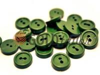 Пуговица пластиковая двух-ударная, цвет оливковый, упаковка 25 шт