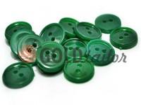 Гудзик пластиковий двох-ударний, колір зелений, упаковка 25 шт